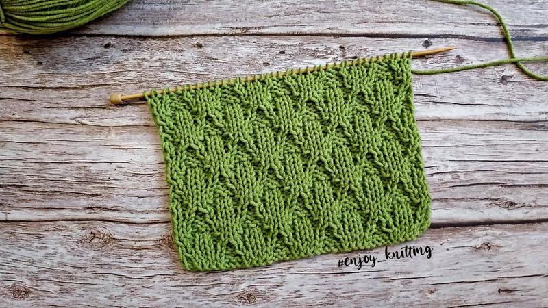КЛАССНЫЙ Двусторонний Узор спицами для пледа Reversible textured knitting stitch