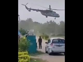 Драматичная посадка вертолета Ми-8