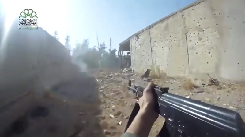 Isis gopro footage war syria combat pov top soldier HD