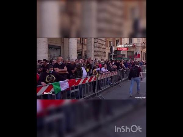 Manifestation en Italie