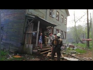 """Пожар в """"деревяшке"""" на Обводном канале"""