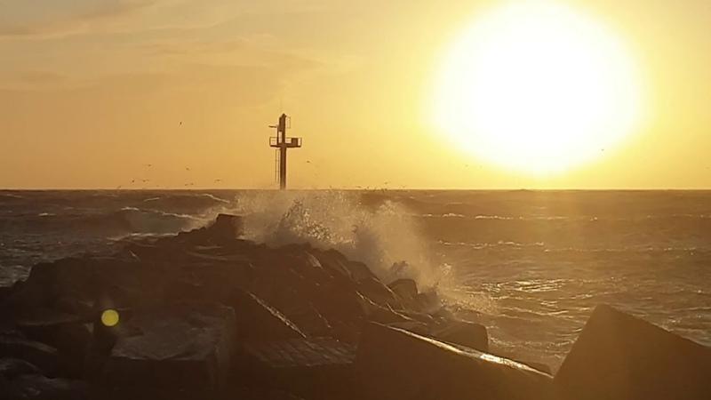 Šios dienos saulėlydis 2020 02 17 Molas Klaipėda loveklaipeda