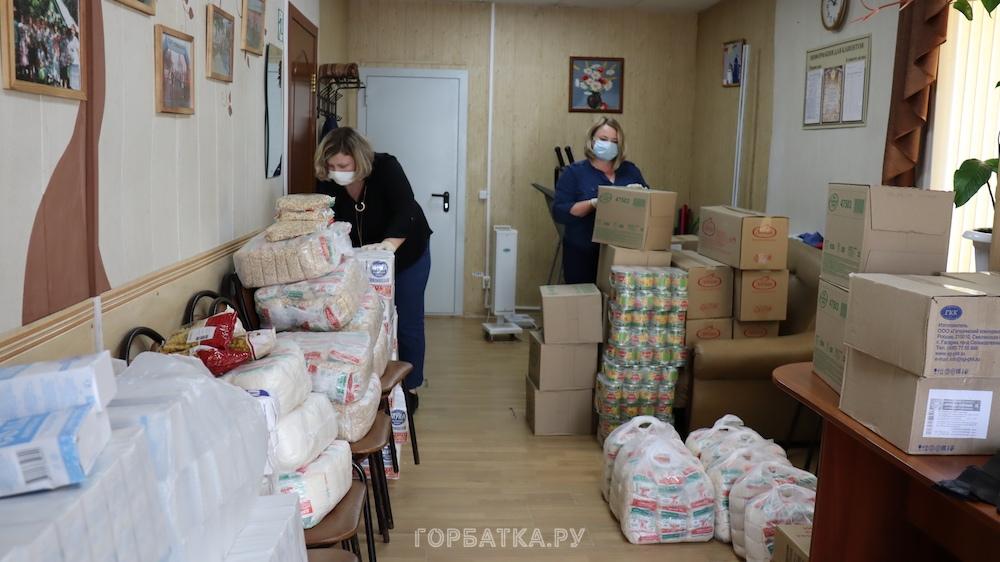 В Селивановском районе 124 пенсионера получили продуктовые наборы