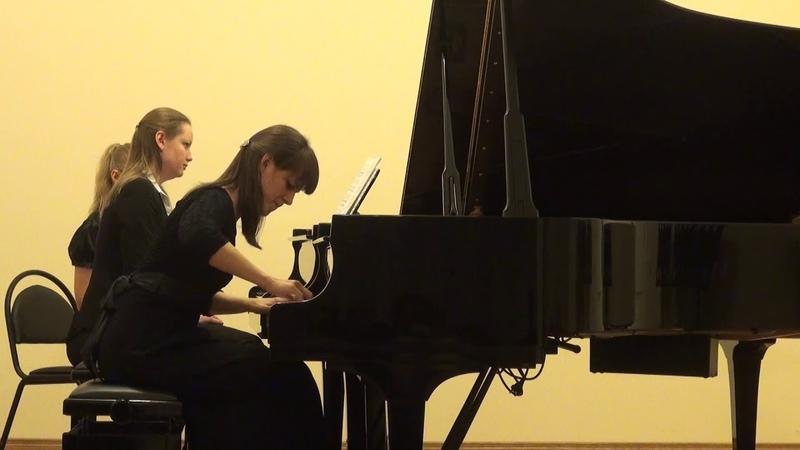 Моцарт.Концерт для фортепиано с оркестром n 20 d moll KV466 Н Феденко, Ю Федорова