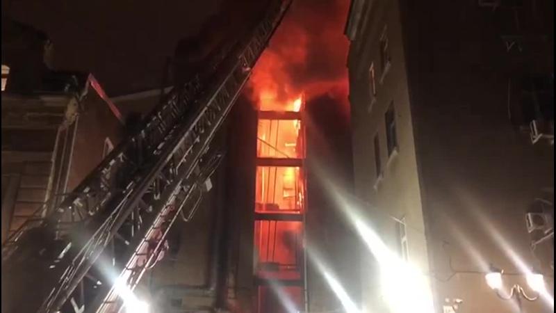 Пожар на Большой Садовой Ворошиловском Ростов на Дону 23 11 2020