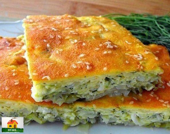 Быстрый пирог с капустой на кефире: порубил, залил  готово!