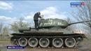 Блестящая техника - в Волгограде готовят боевые машины к Параду Победы
