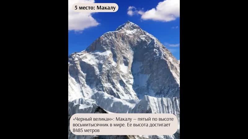 Топ 10 горных вершин мира