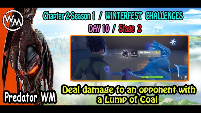 Deal damage to an opponent with a Lump of Coal Winterfest Challenges Day 9 Stage 1