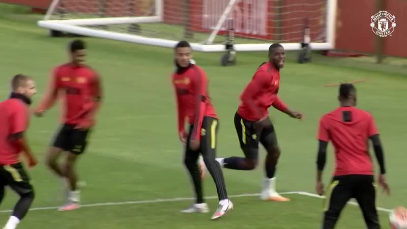 TRAINING ¦ Hard work continues as Reds prepare for trip to Villa ¦ Manchester United