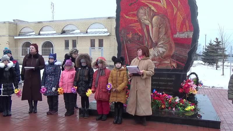 Час памяти детям Блокадного Ленинграда Ж Д вокзал г Тихвин