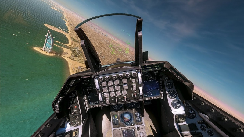 Landing an F 16C at DUBAI INTERNATIONAL AIRPORT DCS World 4K