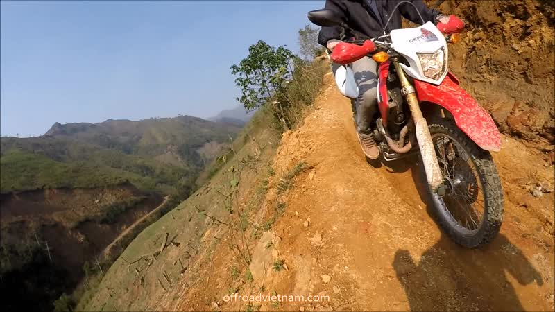 Vietnam motorbike tours off road to Ta Xua dinosaur backbone