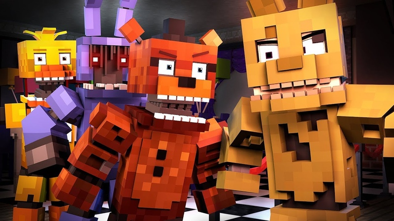 Follow Me Minecraft FNAF Animation Music Video Song by TryHardNinja The Foxy Song 2