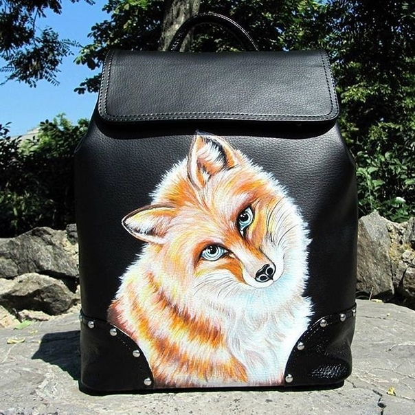 Как тебе роспись рюкзака?❤