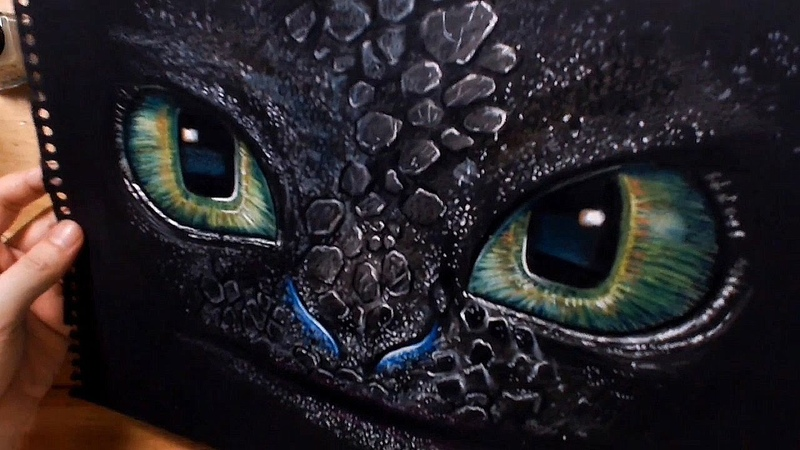 Speed Drawing Toothless How To Train Your Dragon HTTYD