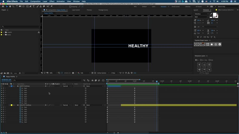 How to Stretch and Smear Text in After Effects