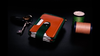 Making a Leather Bifold Wallet with Money Clip. FREE PDF TEMPLATE