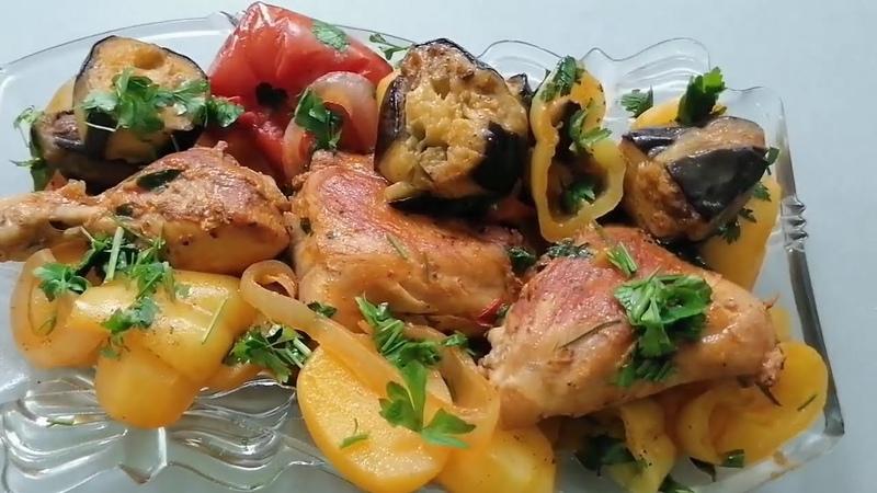 Ամենահամեղ ճաշը Անահիտից овощное рагу с мясом и баклажанами vegetable stew with meat and eggplant