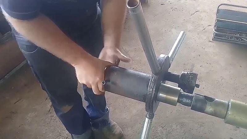 Recuperação rosca eixo da turbina sem uso de torno.