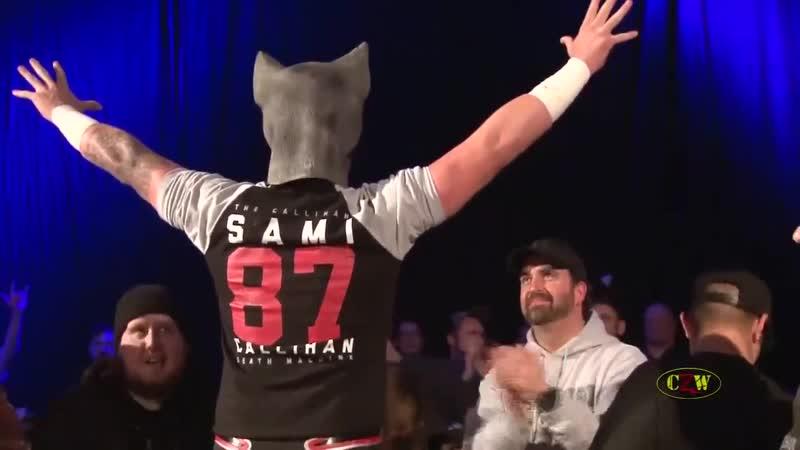 Space Cat Sami Callihan entrance CZW COD 2016