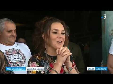 Zaz Ko legioa Zaz chante avec 200 coll giens Reportage France 3