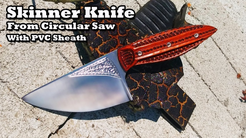 Making Skinner Knife | Cara Buat Pisau Lapah | with PVC Sheath