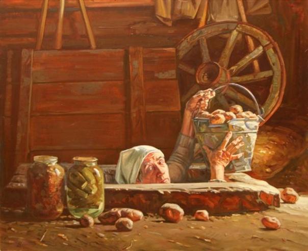 ПРО МЕШОК КАРТОШКИ И УКРОП Самый сложный год в финансовом плане пришелся на мои 15 лет. Денег не было, еды не было. Осенью на даче мы с мамой накопали два мешка картошки. Это была наша