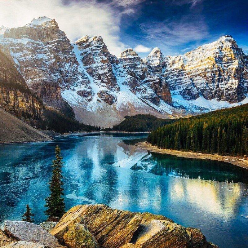 Пейзаж, который видит перед собой человек, обычно...