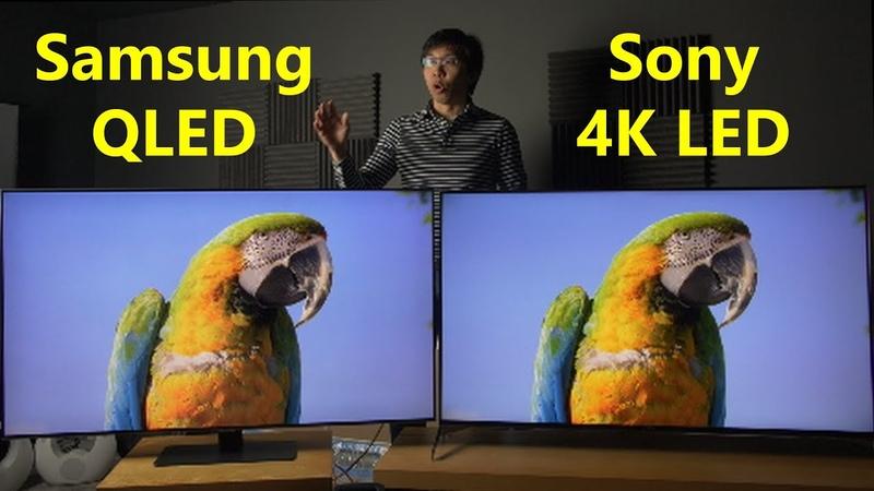 Samsung QLED vs Sony 4K LED TV Comparison (Upscaling, HDR, Game Mode)