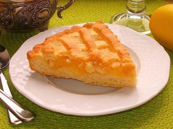 Очень вкусный Песочный лимонный пирог