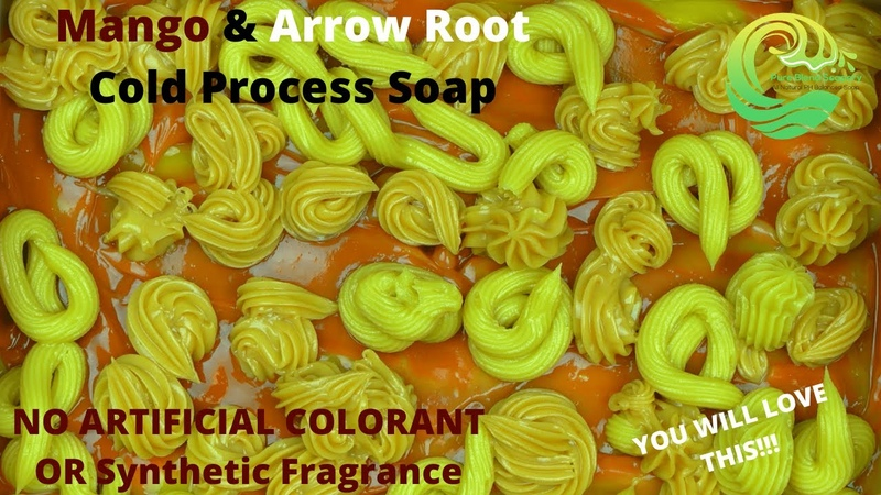 All Natural Mango Arrow Root Powder Cold Process Soap Making No Synthetic Fragrance Or Colorant