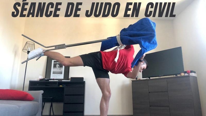 Séance de judo en civil